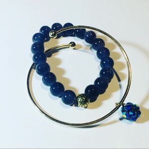 Jewelry - Beaded Bracelet and a Gold Charm Bangle